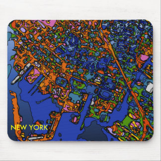 Funky Maps, NEW YORK Mouse Pad