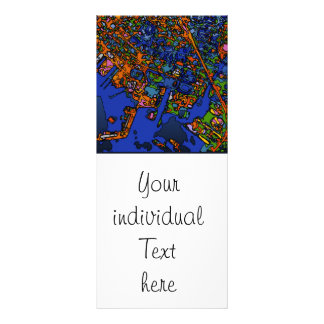 Funky Maps NEW YORK Full Color Rack Card