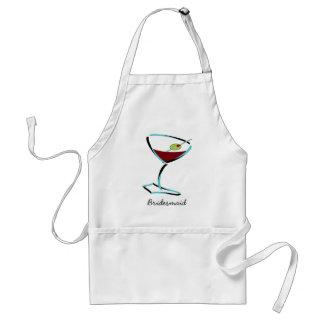 funky martini aqua adult apron