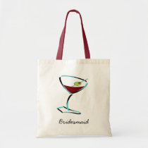 funky martini aqua tote bag