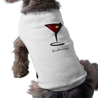 Funky martini Fun Bridesmaid Favors Dog T-shirt