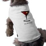 Funky martini Fun Bridesmaid Favors Dog Tshirt