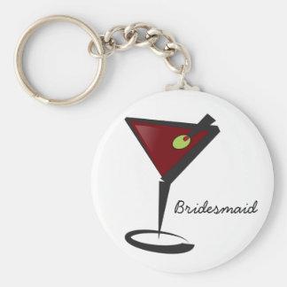 Funky martini Fun Bridesmaid Favors Basic Round Button Keychain