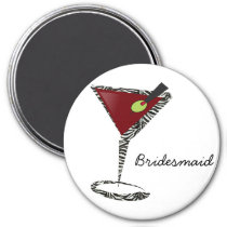 Funky martini Fun Bridesmaid Favors Magnet