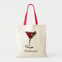 Funky martini Fun Bridesmaid Favors Tote Bag