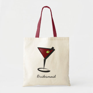 Funky martini Fun Bridesmaid Favors Tote Bag