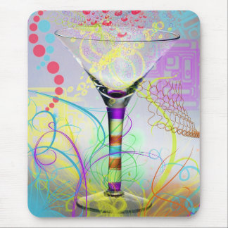 Funky Martini Mouse Pad
