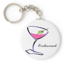 funky martini purple keychain