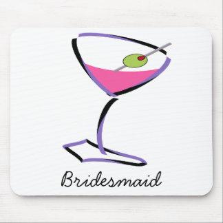 funky martini purple mouse pad
