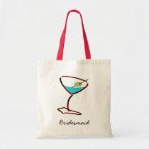 Funky martini red Bridesmaid Favors Tote Bag