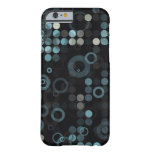 Funky Masculine Grey Blue Circle Stylish Geometric iPhone 6 Case