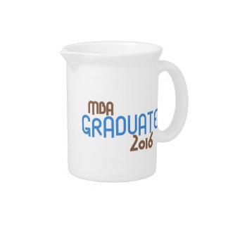Funky MBA Graduate 2016 (Blue) Beverage Pitcher