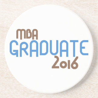 Funky MBA Graduate 2016 (Blue) Drink Coaster