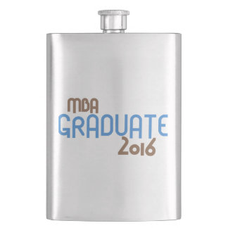 Funky MBA Graduate 2016 (Blue) Flask