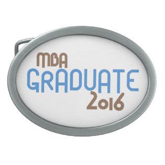 Funky MBA Graduate 2016 (Blue) Oval Belt Buckle
