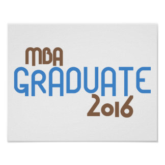 Funky MBA Graduate 2016 (Blue) Poster