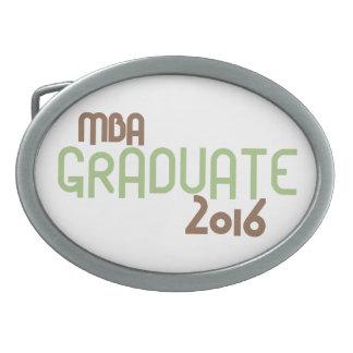 Funky MBA Graduate 2016 (Green) Oval Belt Buckle