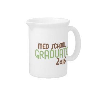Funky Med School Graduate 2016 (Green) Drink Pitcher