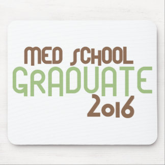 Funky Med School Graduate 2016 (Green) Mouse Pad