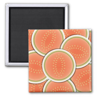 Funky melons 2 inch square magnet