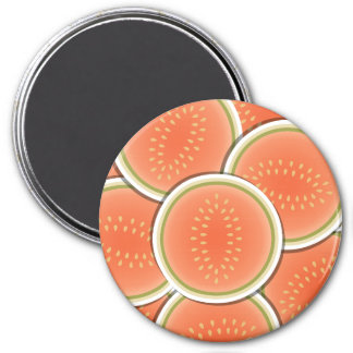Funky melons 3 inch round magnet