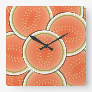 Funky melons square wall clock