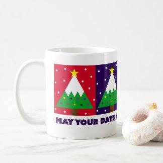 Funky Merry and Bright Christmas Tree Coffee Mug