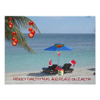 Funky Merry Christmas! Photo Print