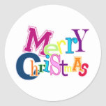Funky Merry Christmas Stickers