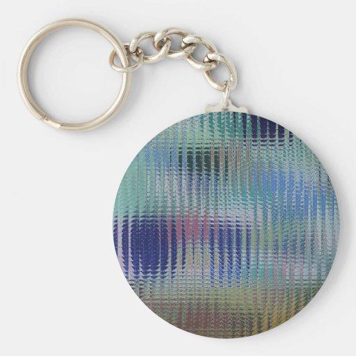 Funky Metallic Glass Abstract Key Chain