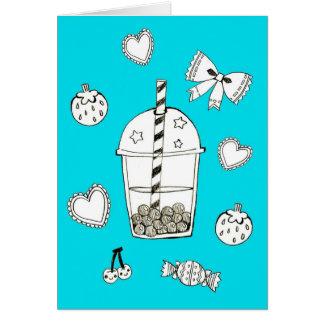 Funky Milk Tea Card
