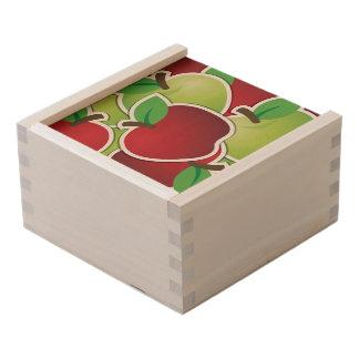 Funky mixed apples wooden keepsake box