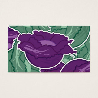 Funky mixed cabbage business card