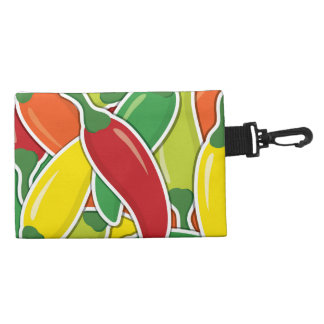 Funky mixed chilli peppers accessory bag