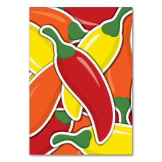 Funky mixed chilli peppers card