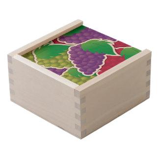 Funky mixed grapes wooden keepsake box