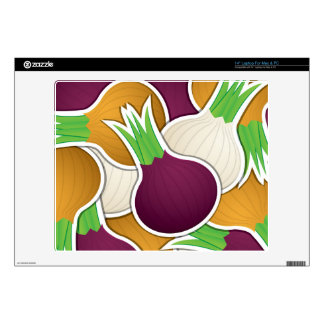 """Funky mixed onions 14"""" laptop decal"""