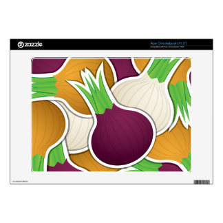Funky mixed onions acer chromebook decal