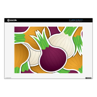 Funky mixed onions decals for laptops