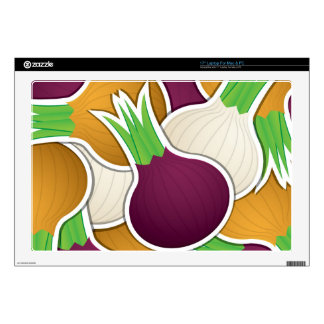 Funky mixed onions laptop decals