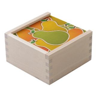 Funky mixed pear wooden keepsake box