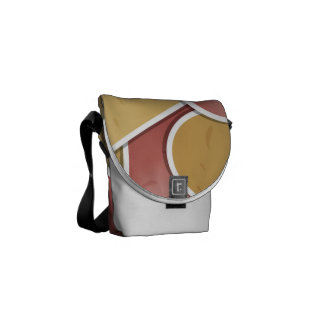 Funky mixed potato messenger bag