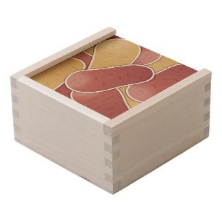 Funky mixed potato wooden keepsake box