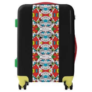 FUNKY Modern Abstract 'Let's Go' Multilingual Luggage