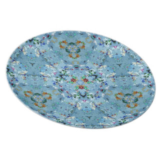 Funky Modern Blue Pattern Everyday Dishes