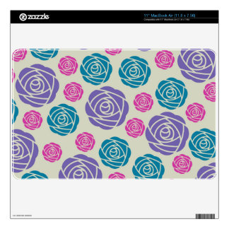 funky modern chic roses pattern decal for MacBook