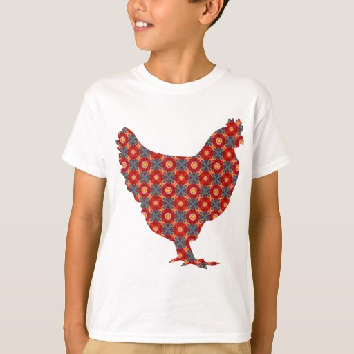Funky modern chicken t shirt zazzle for Funky t shirts online