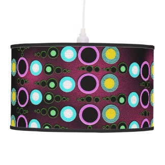 Funky Modern Dots Pattern Table Lamp & Shade