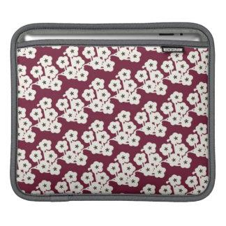 funky modern japanese cherry blossoms pattern iPad sleeve