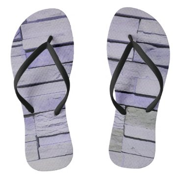 Beach Themed Funky Modern Lavender Stacked Bricks Flip Flops